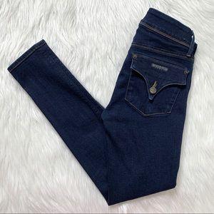 Hudson Dark Blue Wash Skinny Jeans